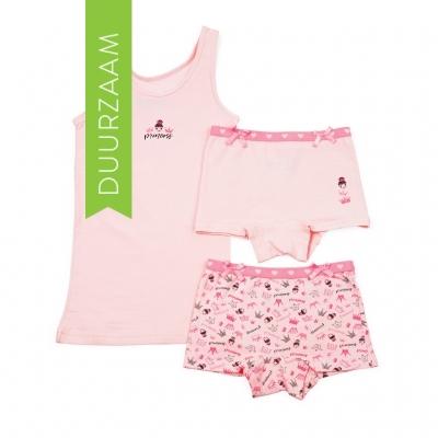 Funderwear ondergoed setje prinses roze