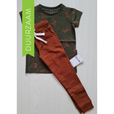 Shout it Out SET: Cheetah shirt & skinny jogging