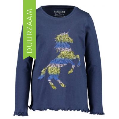Blue Seven longsleeve unicorn navy