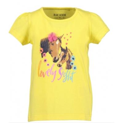 Blue Seven t-shirt paarden geel