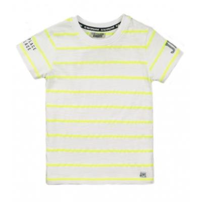 DJ Dutchjeans t-shirt white neon yellow