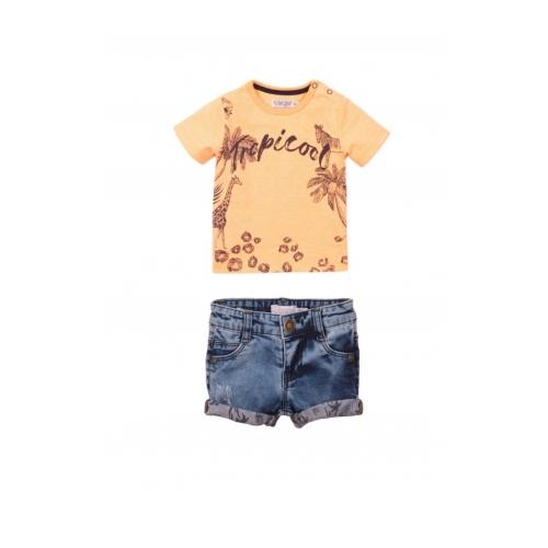 Dirkje SET korte jeans & t-shirt Tropical