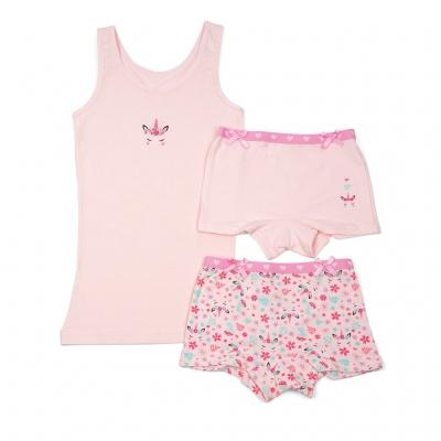 Funderwear ondergoed setje unicorn roze