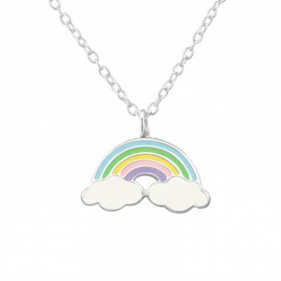 Zilveren ketting regenboog