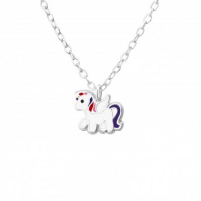 Zilveren ketting unicorn