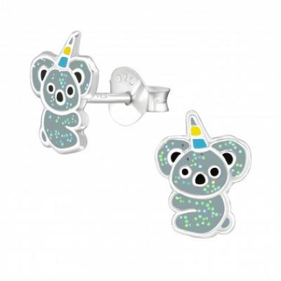 Zilveren oorbellen koala